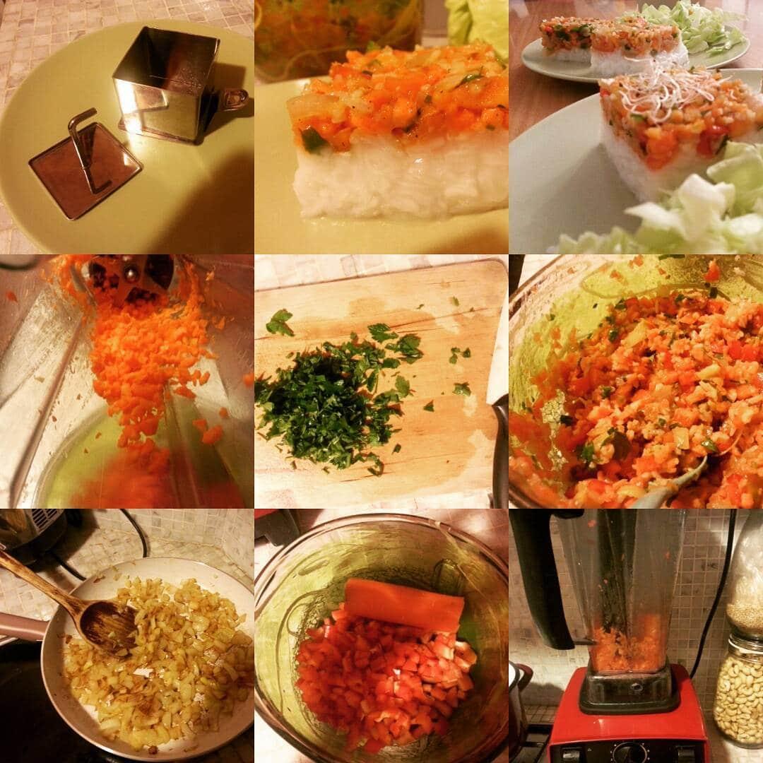tort de orez cu legume